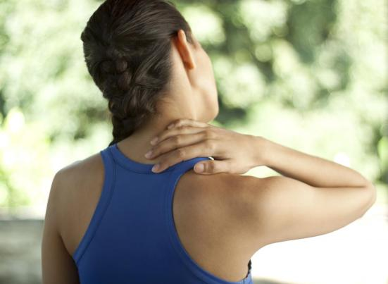 Neck and shoulder tension relief workshop with Naomi at the Bristol Yoga Centre
