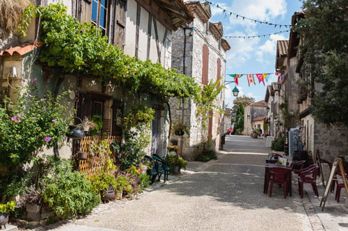 Near by yoga retreat town in France