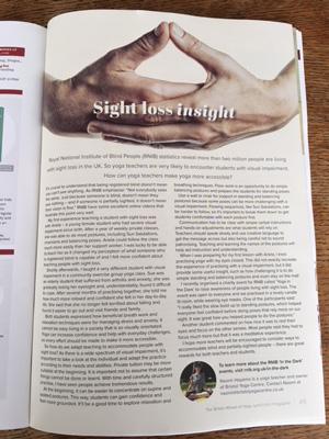 sight Loss Insight Bristol Yoga Centre blog