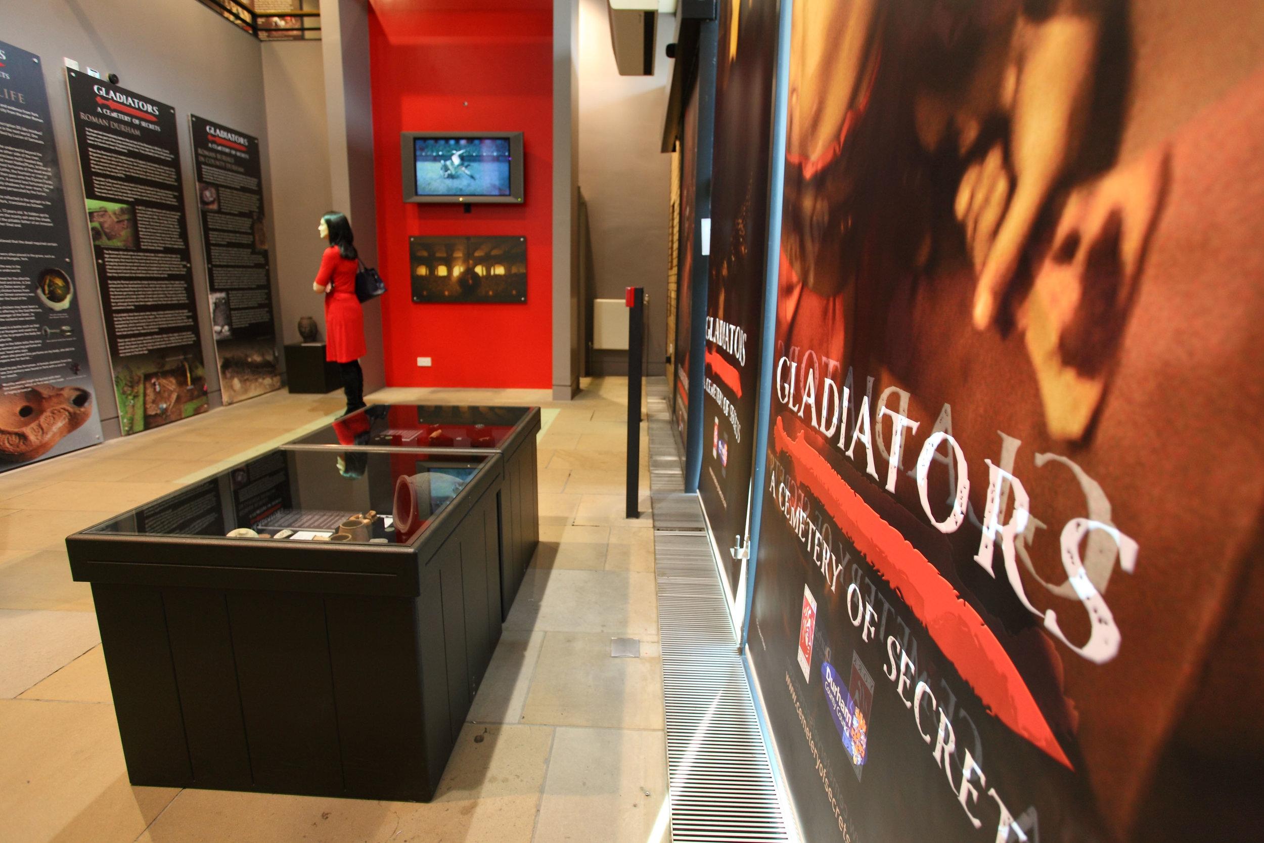 Image shows Gladiators Exhibition in Durham