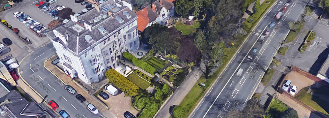 Aerial view of Driffield Terrace