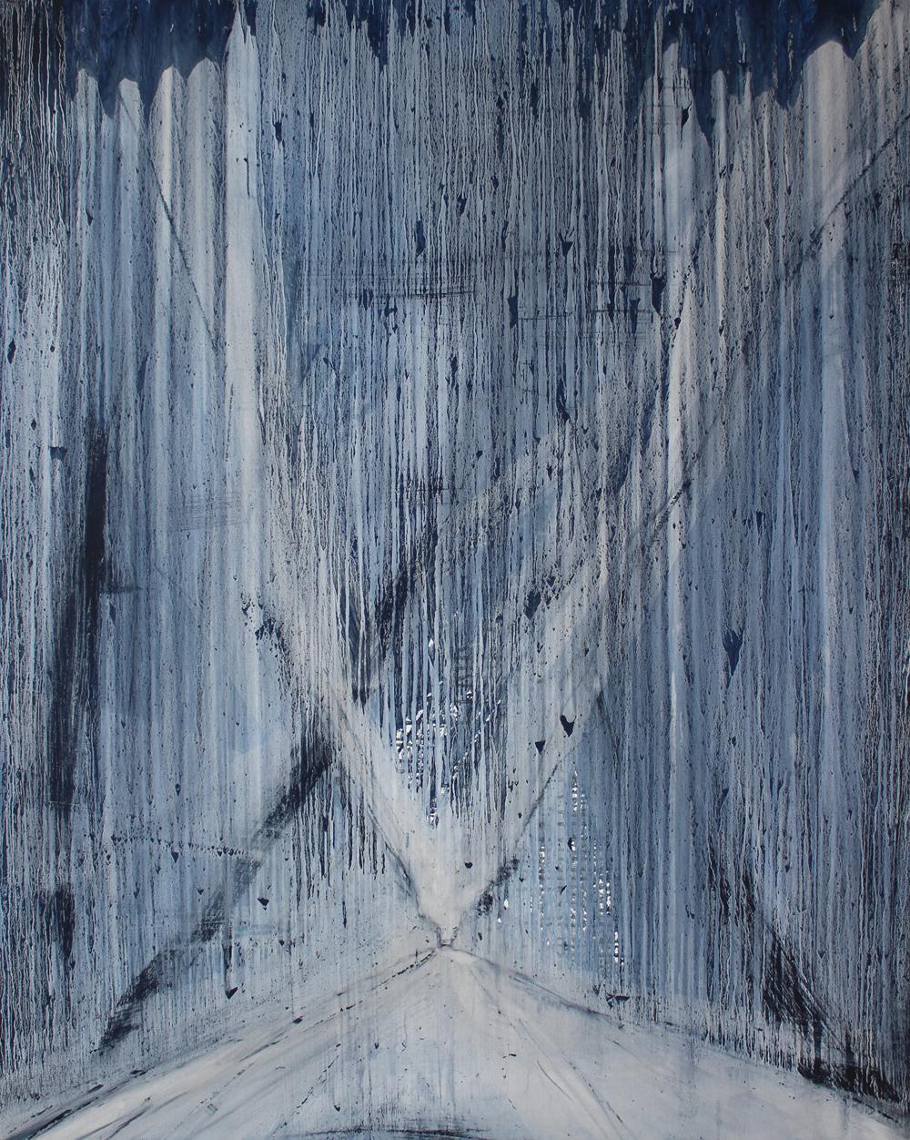 Wreckage, 2019, oil on canvas, 150x120cm