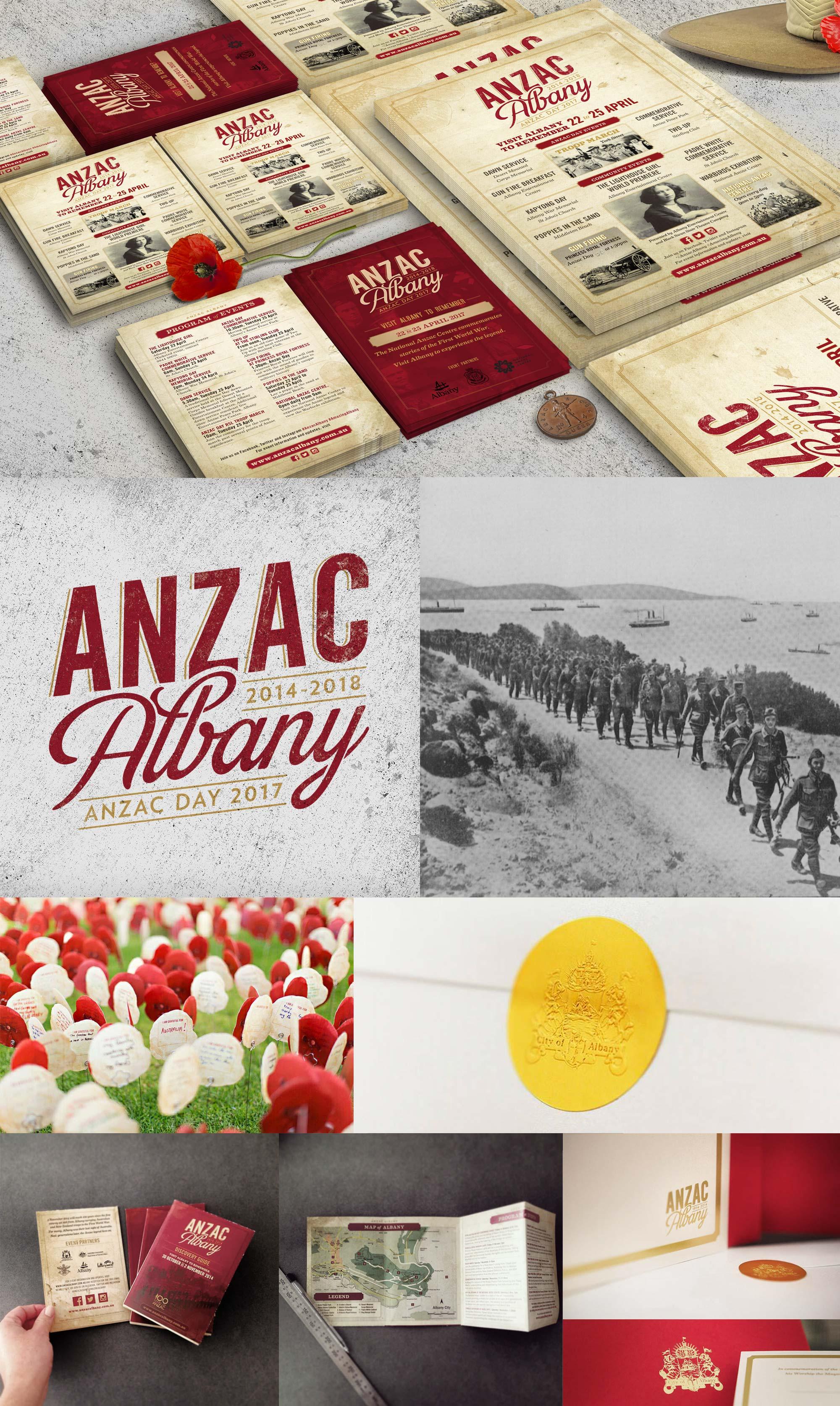 Anzac Albany –Branding & Design Collateral