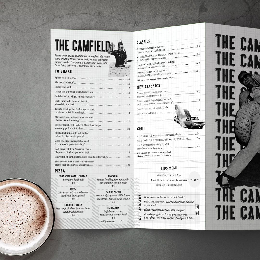 THE CAMFIELD MENUS
