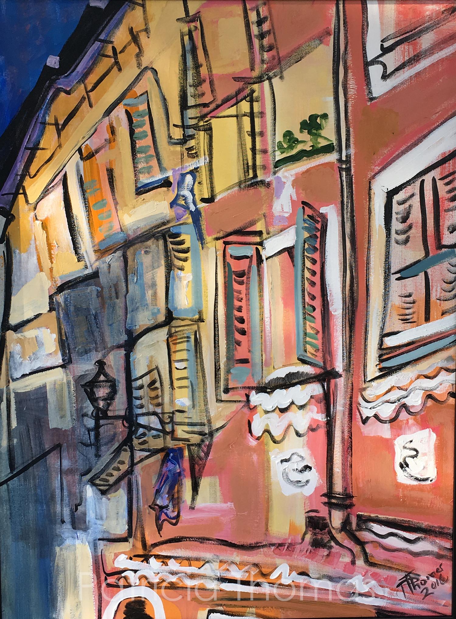 "Maisons de Nice #2  40 x 30"""