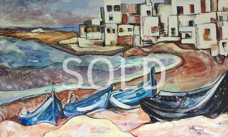 Morocco Fishing Village-SOLD.jpg