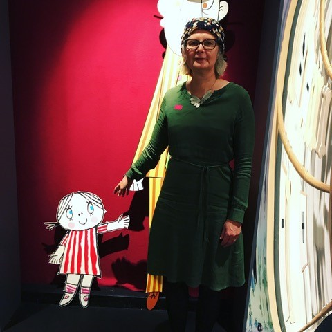 Store Anna møter lille Anna! Illustratør Anna Fiske har vært fan av Inger og Lasse Sandbergs karakterer siden barneårene.
