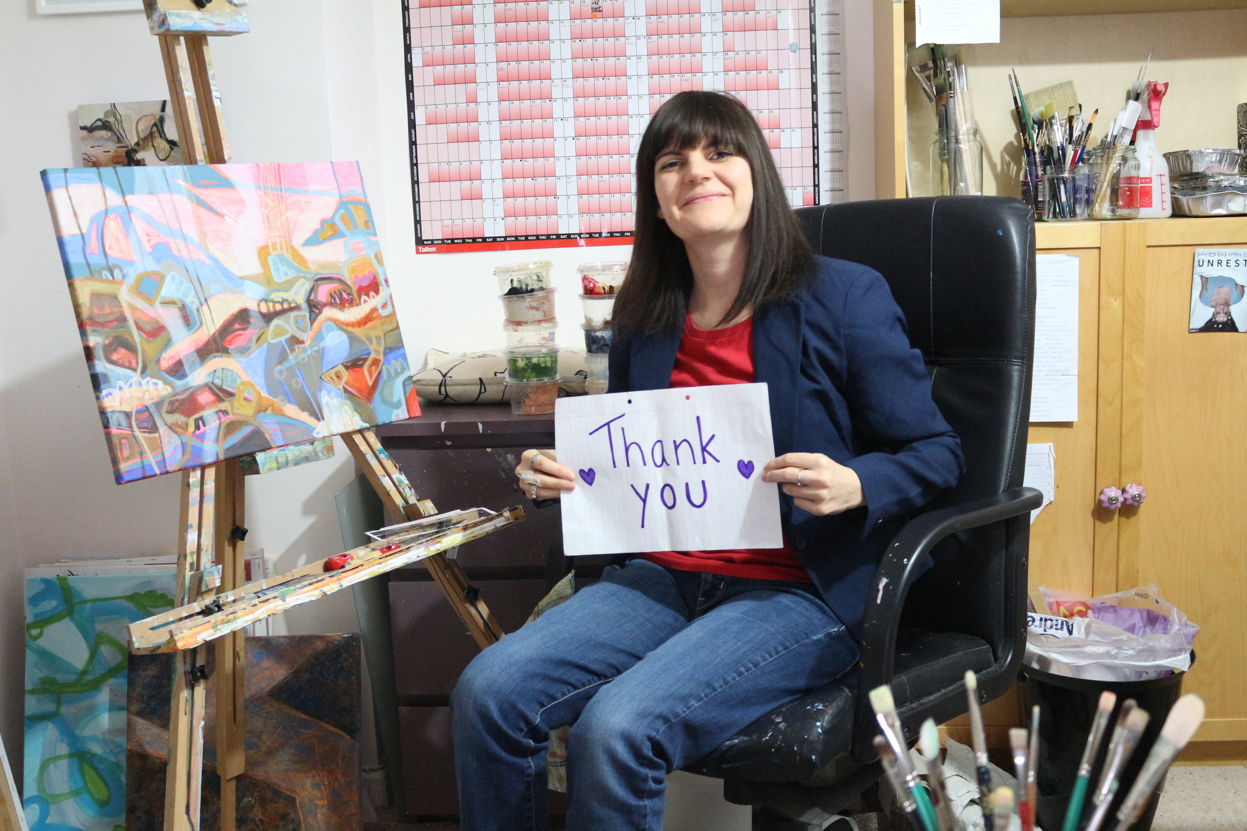 A HUGE thank you from Jasmine Farrow Art.