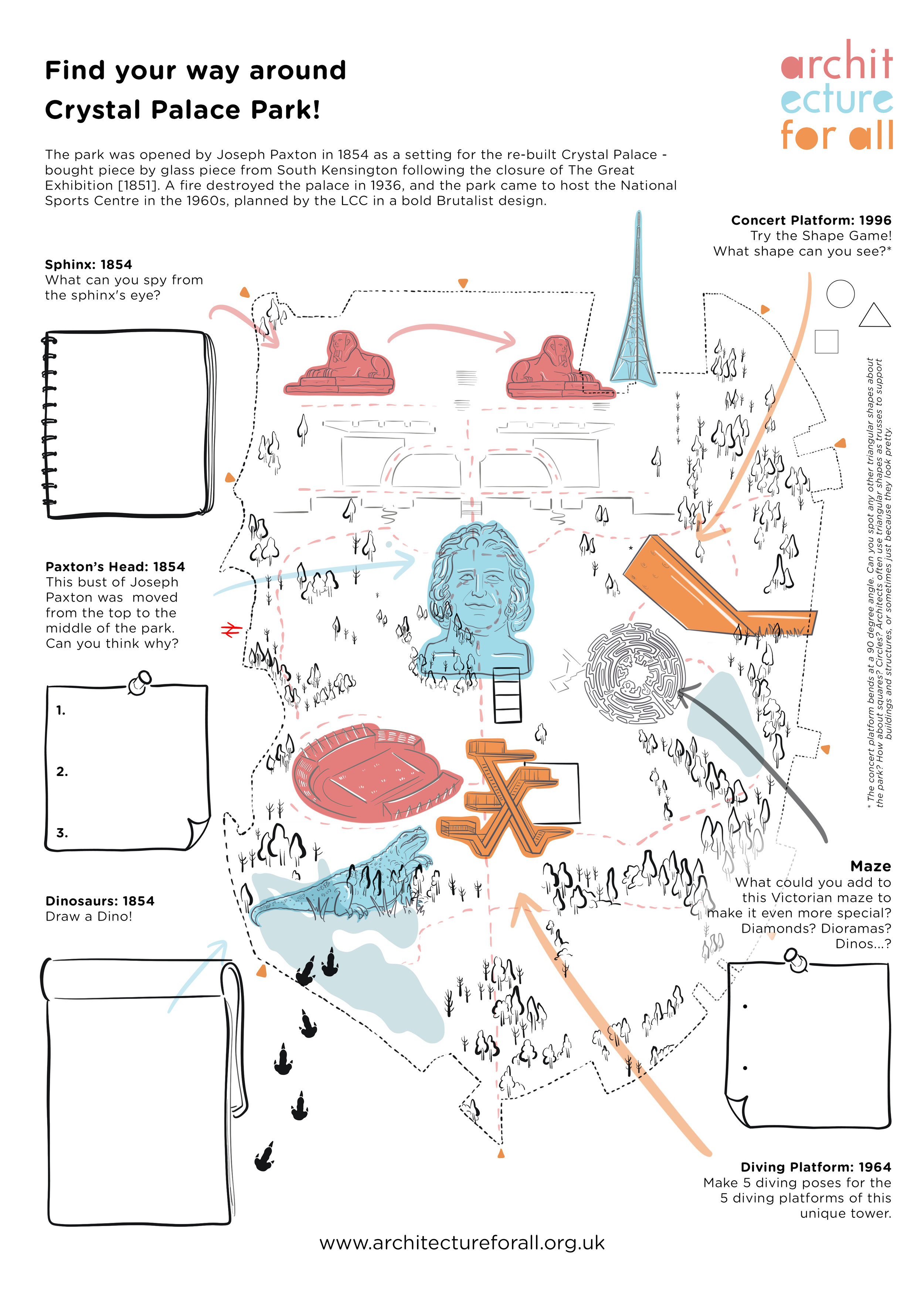 Crystal Palace  - part of a series of maps and teacher resource packs, enabling students to explore both the architecture of this incredible park, and the natural environment. 2018