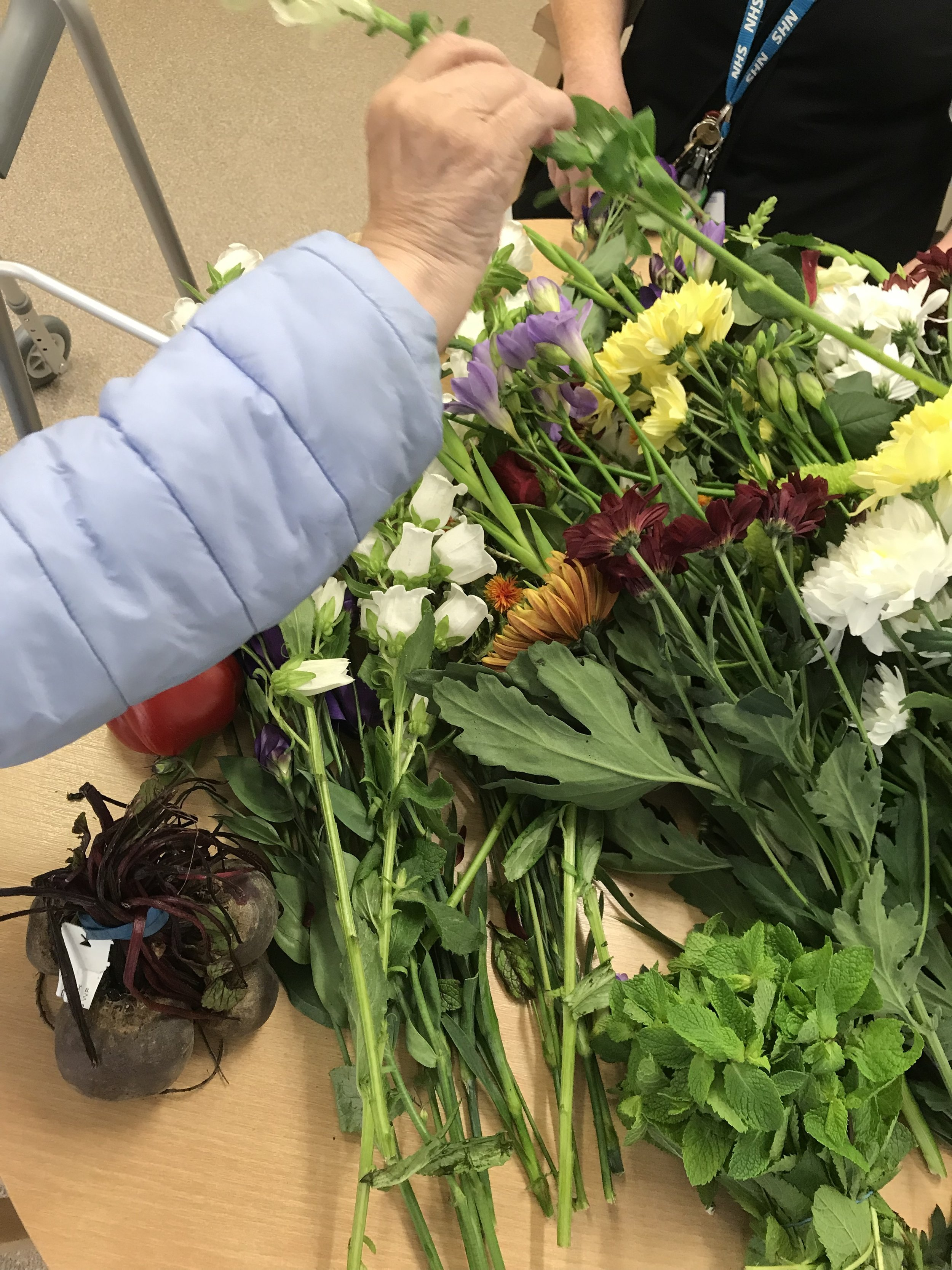 Artist in Residence - Kershaw Ward St Charles Hospital - Central and North West London.  Exploring the role that flowers and illustration can have of the physical and mental health of patients of a number of months. 2018 - 2019.