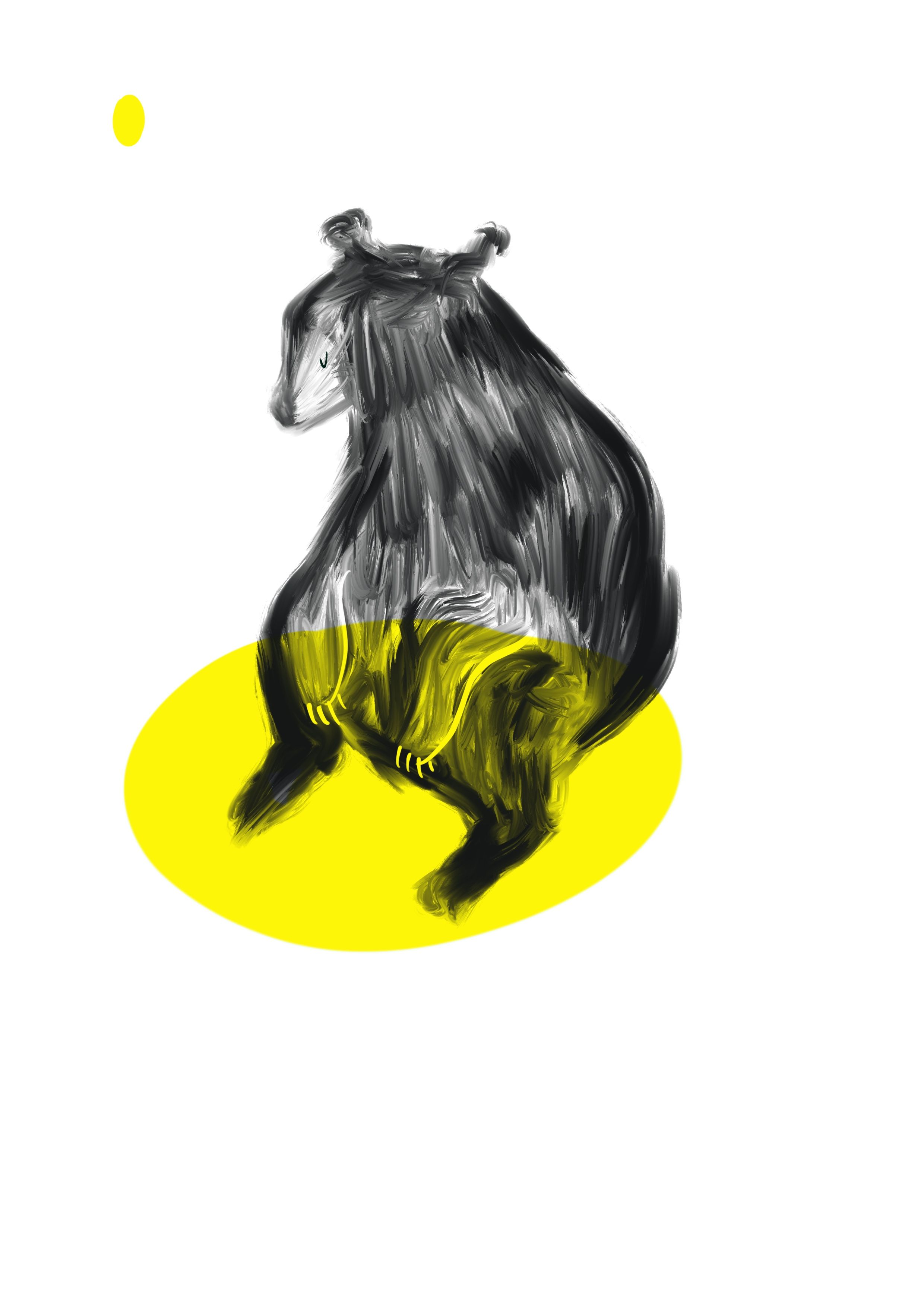 Part of series of illustrations created to raise awareness around the plight of  Bears in Canada  - the destruction of their habitat, and the important role bears play in the wider ecosystem.