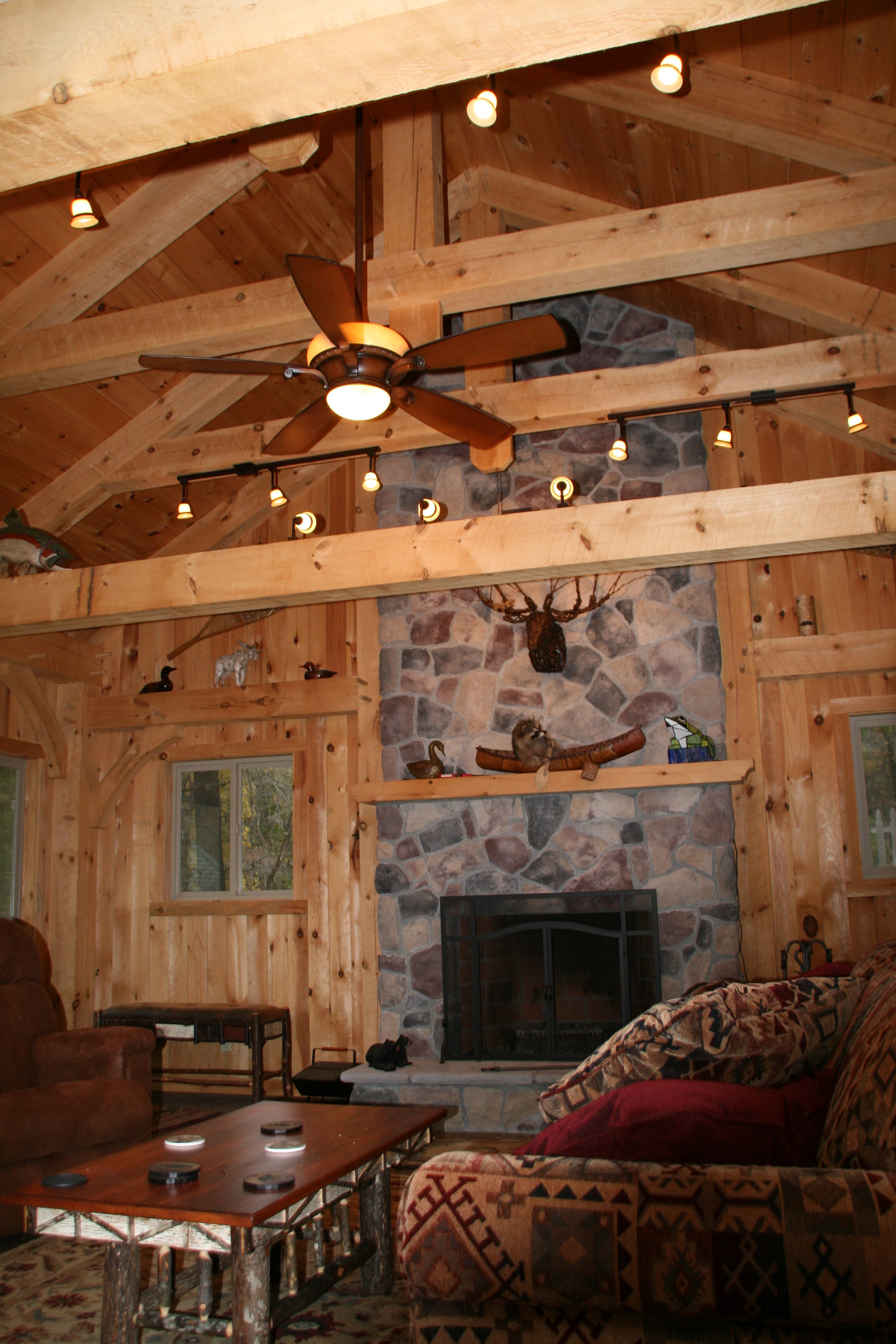 Pine Exposed Beams, and Tongue and Groove, V-groove, Courtesy of Minbiole Timber and Beams.JPG
