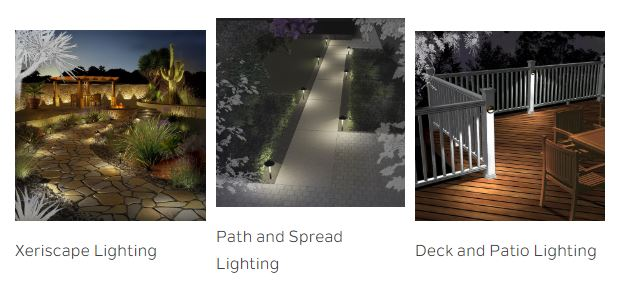 Landscape lighting courtesy of supplier Kichler