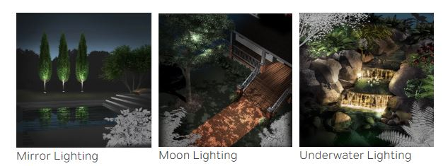 Landscape lighting images courtesy of Kichler