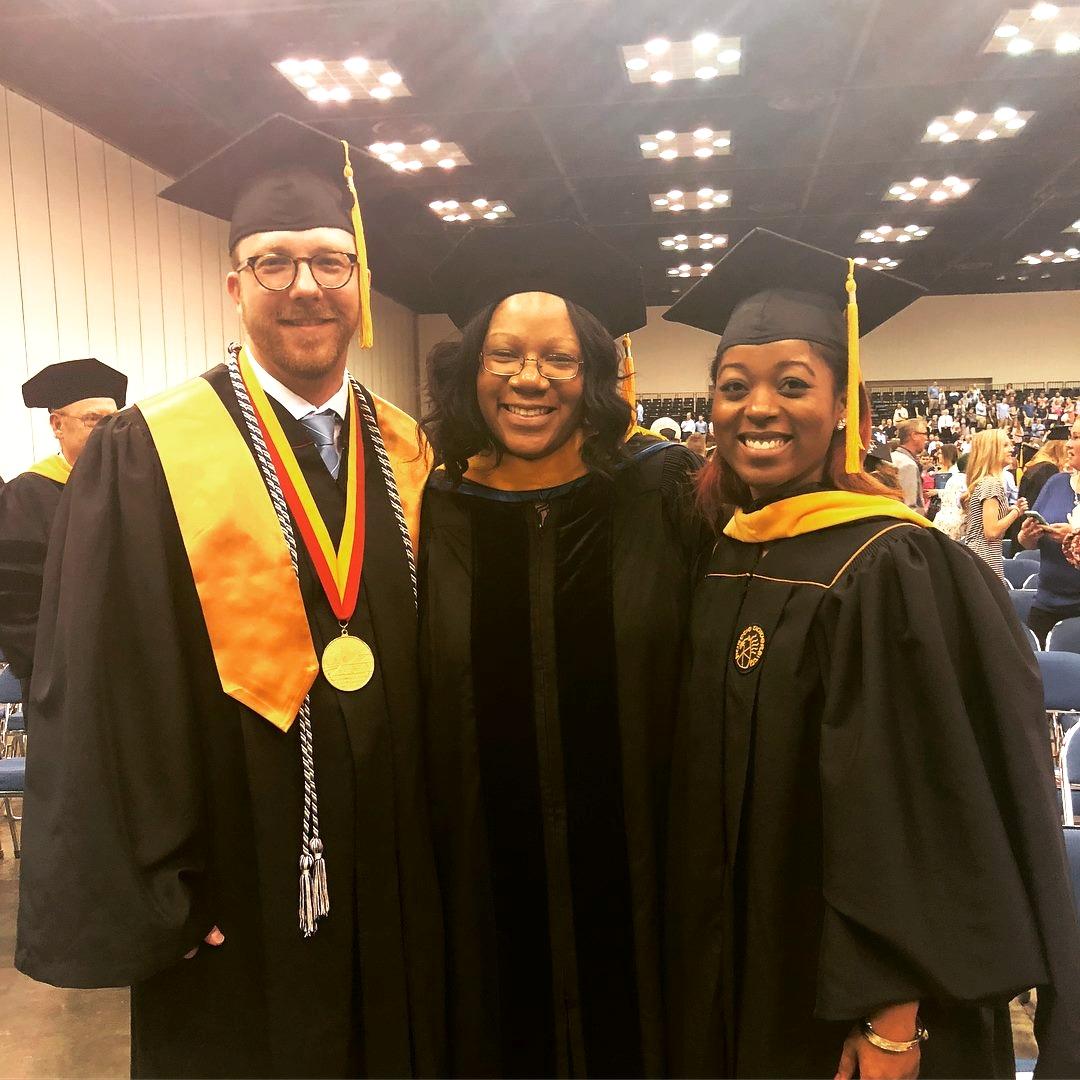 Micah Faidley, Dr. Zapolski, and Alia Rowe