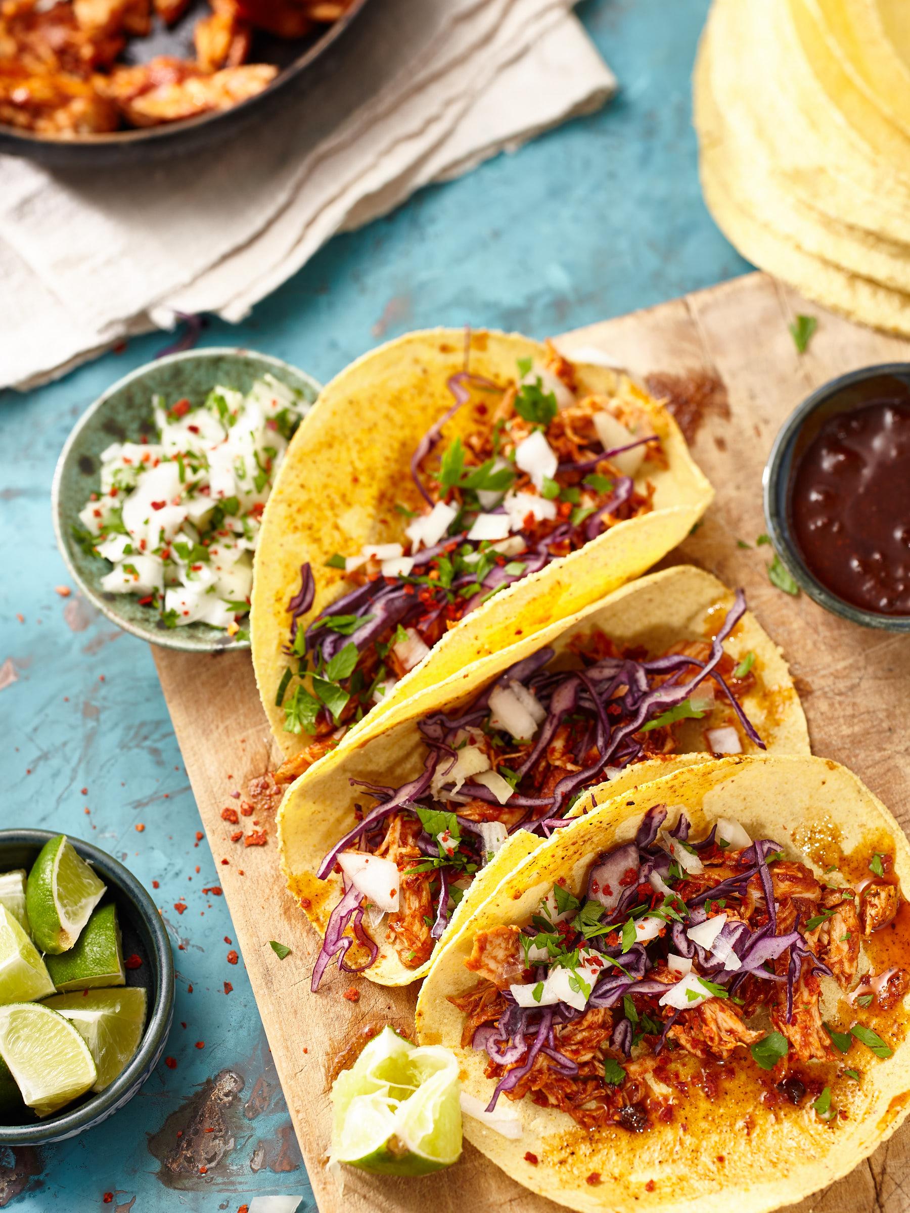 Taco mit Pulled-Chicken