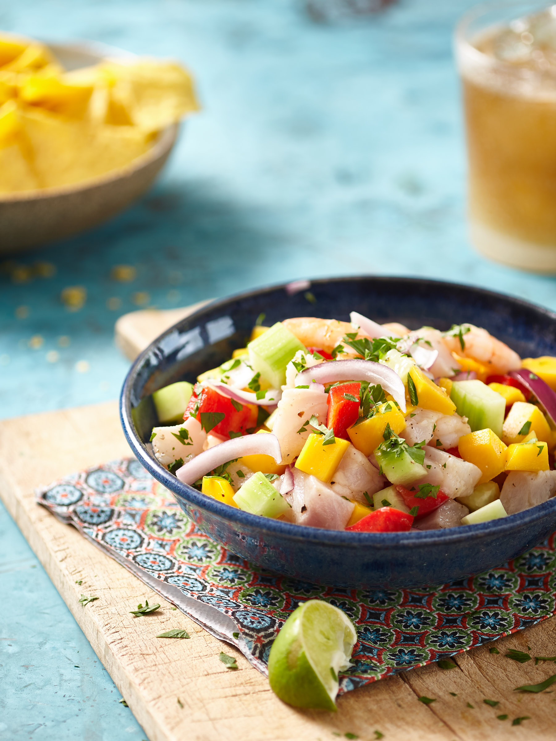 Sommer Ceviche mit Obst