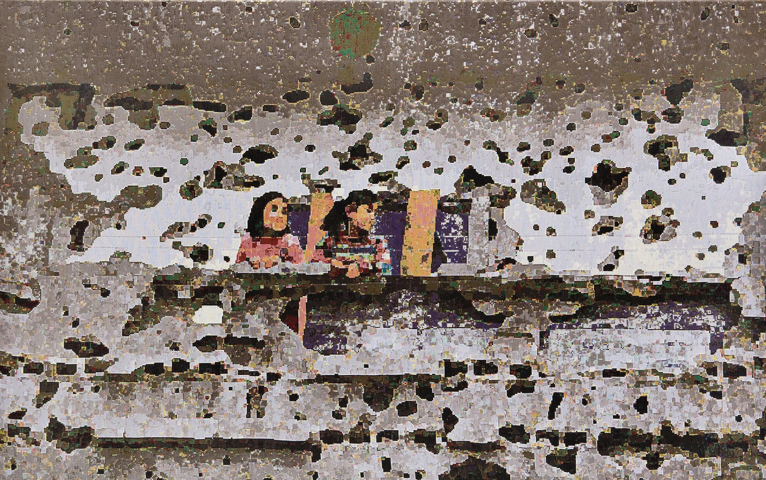 Gaza II, jacquard doublewoven, 149 x 230 cm