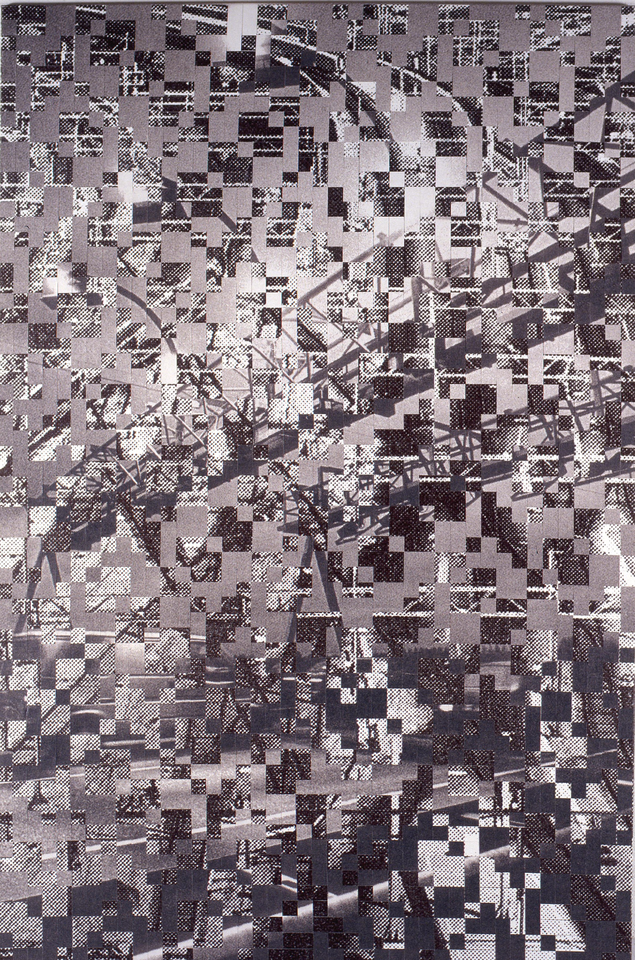 Dutch landscape no. 10, printed and woven canvas, 250 x 180 cm
