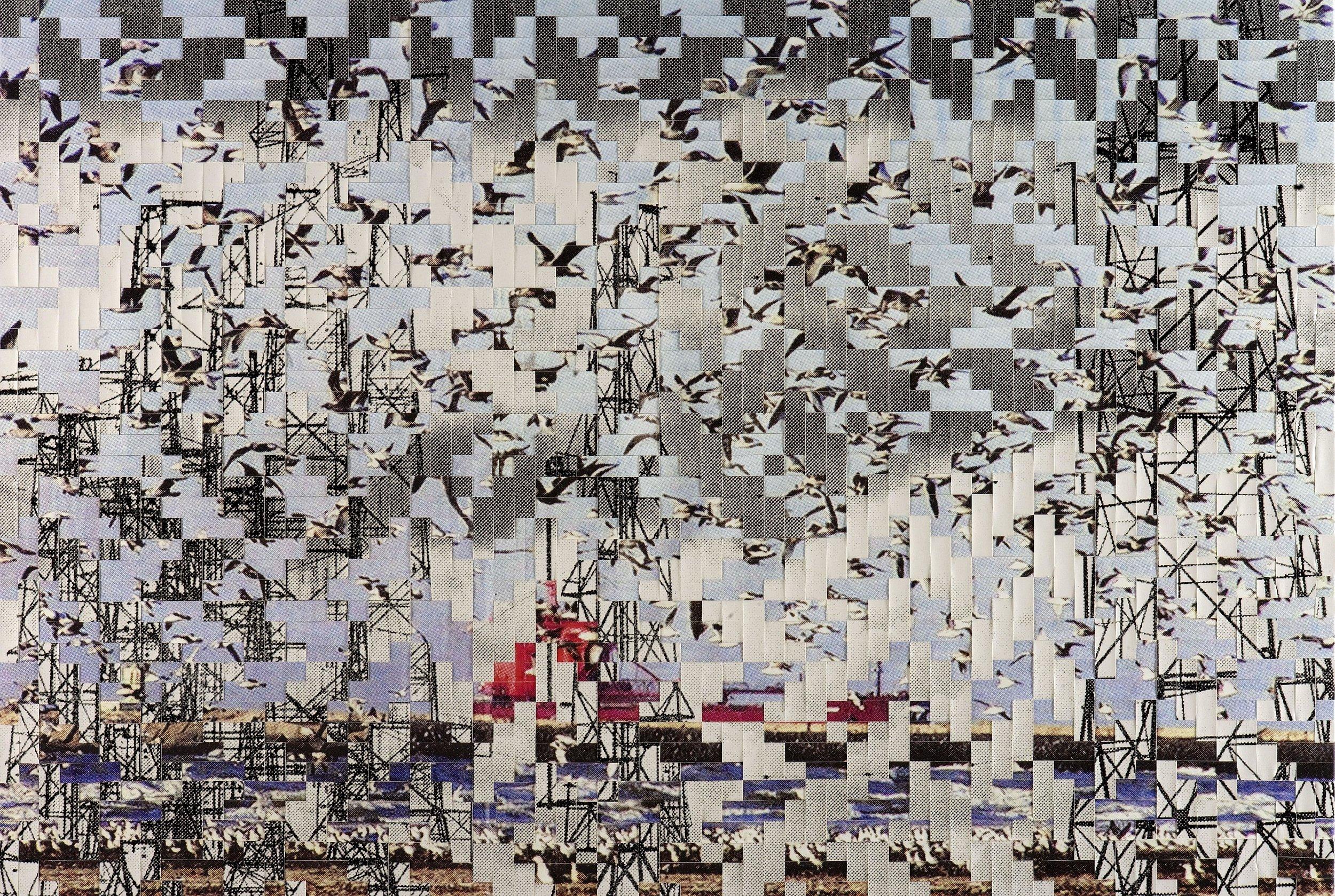 Dutch landscape no. 15, printed and woven canvas, 145 x 213 cm