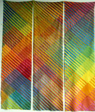 Embroidery, 1981, 275 cm x 210 cm, Textile, paint and embroidery yarn (rayon)