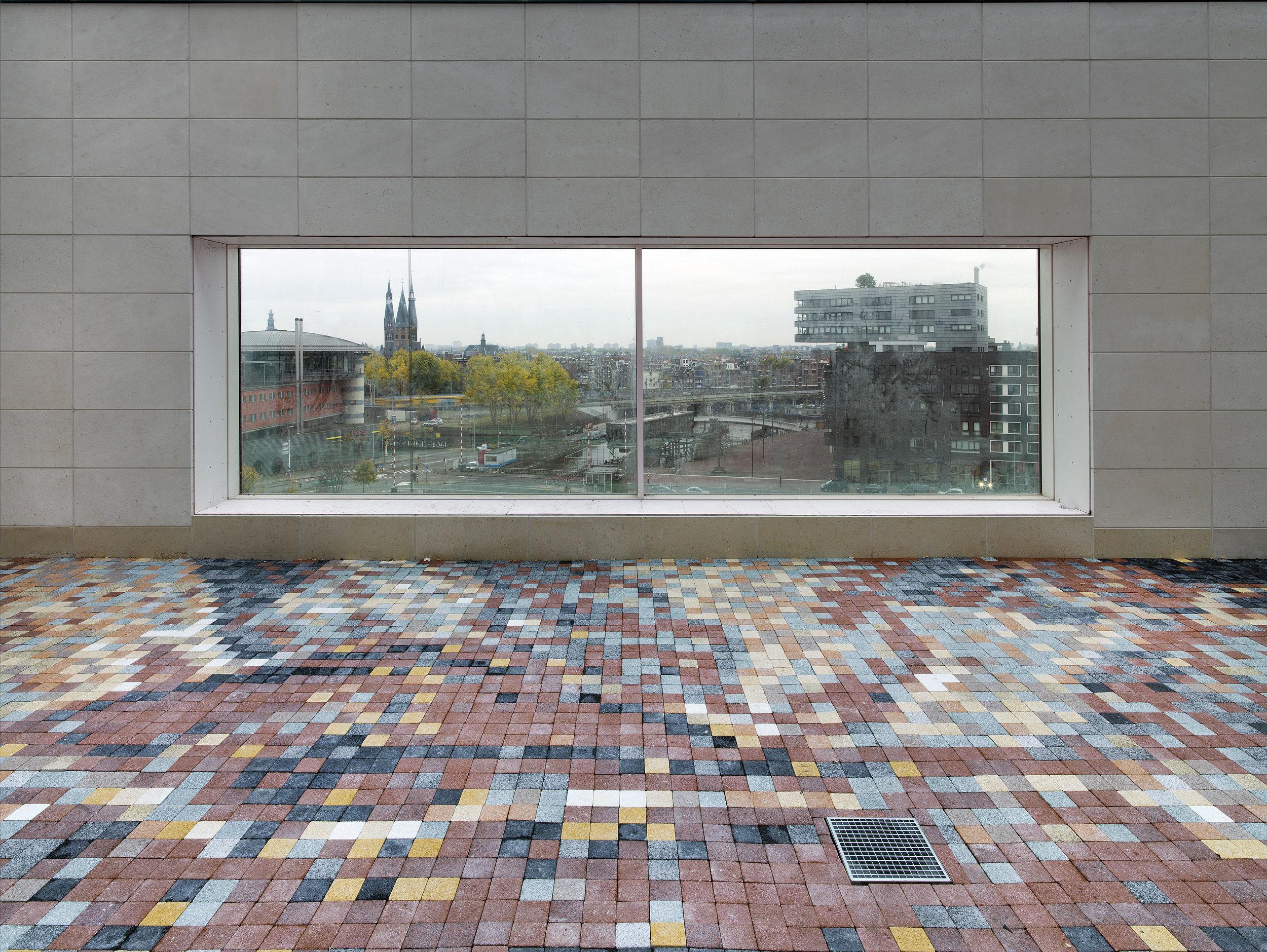 Evil: The abduction of Hippodamia, concrete tiles, detail