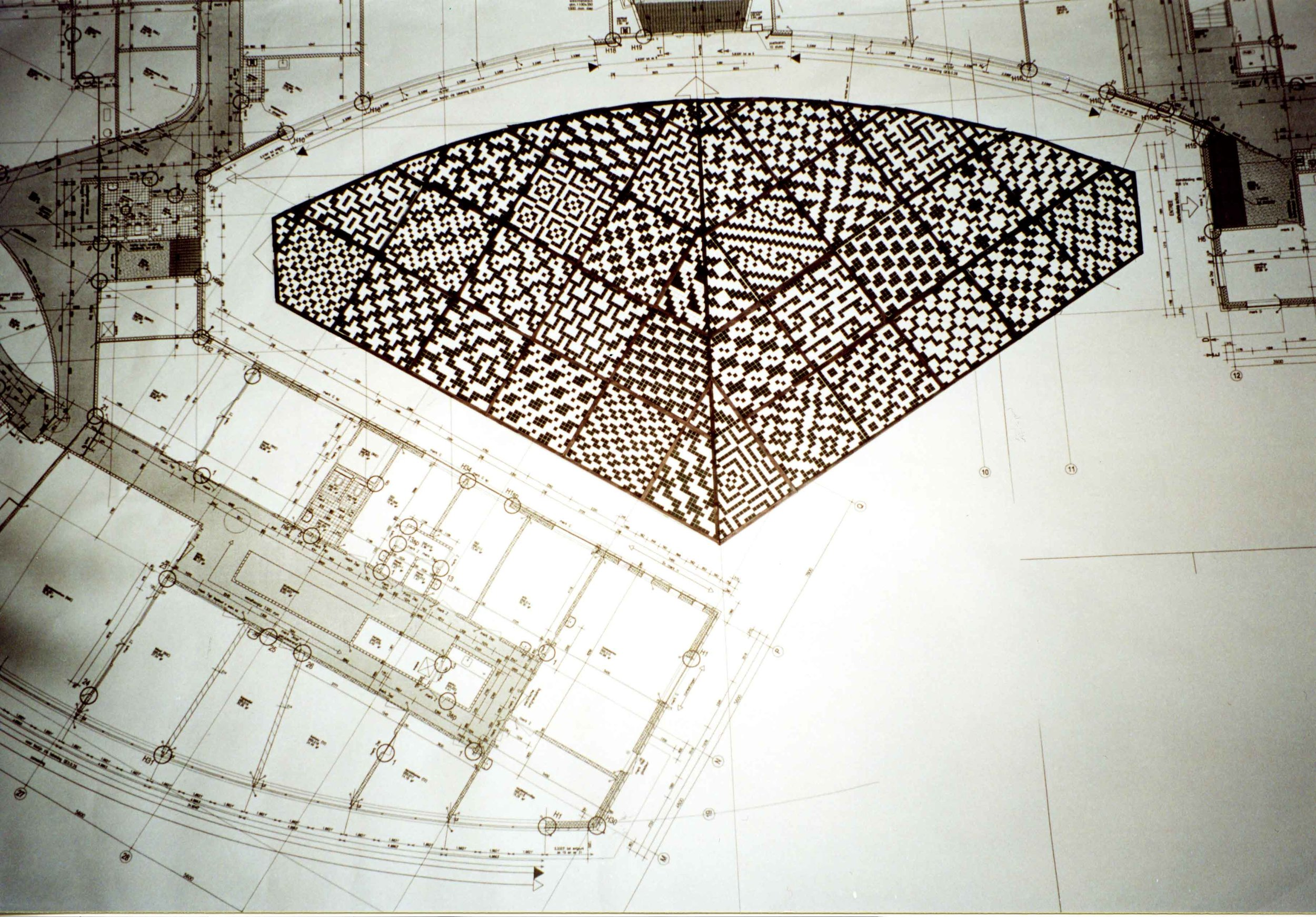 Design drawing for the square