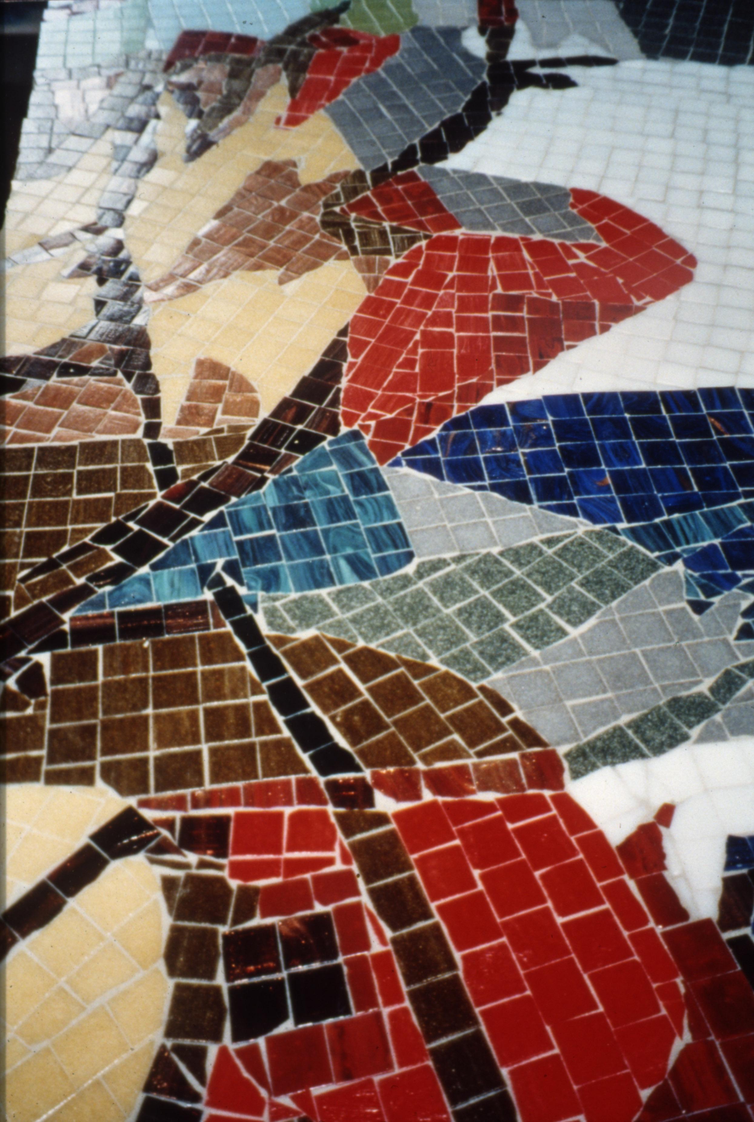 Mosaic wall Pride of Hull, detail