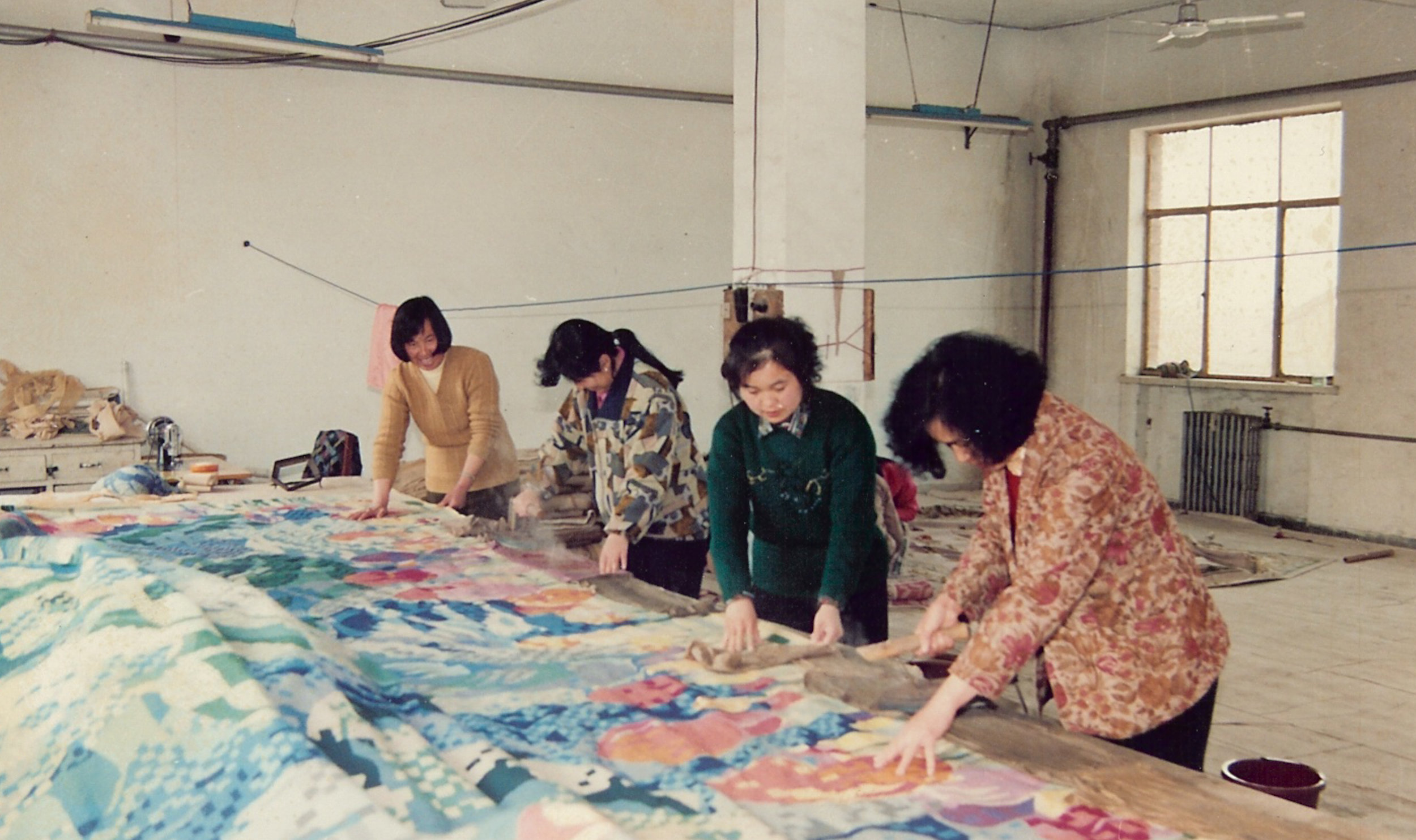 Production process embroiderie, China
