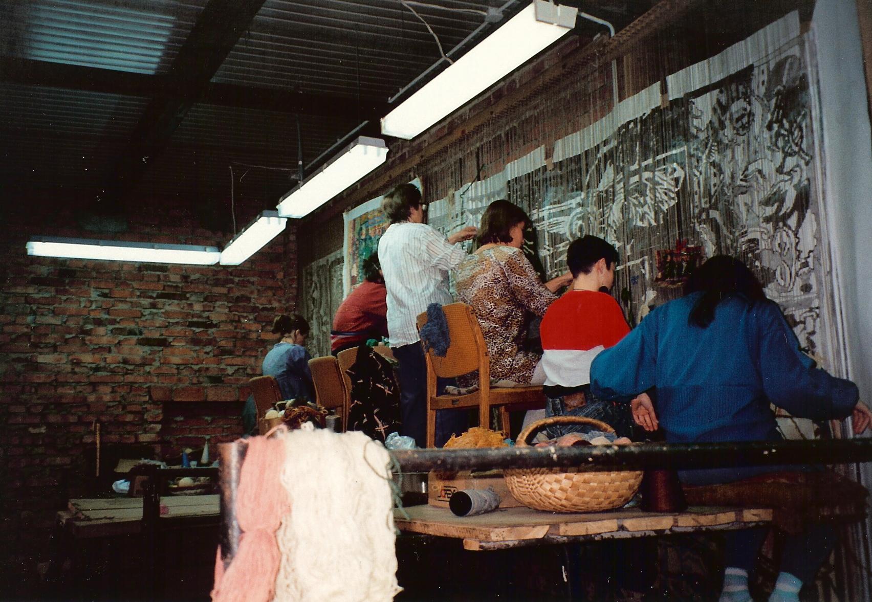 Production process Gobelin weaving, Poland