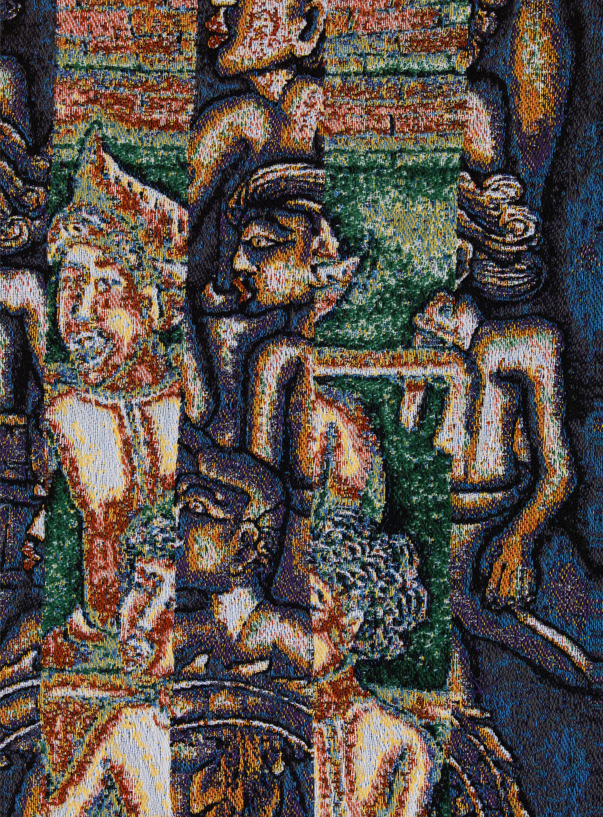 Batuan, jacquard woven, detail