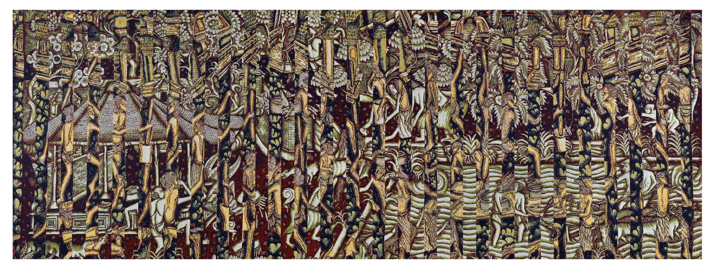 Batuan 2, jacquard woven, 144 x 383 cm