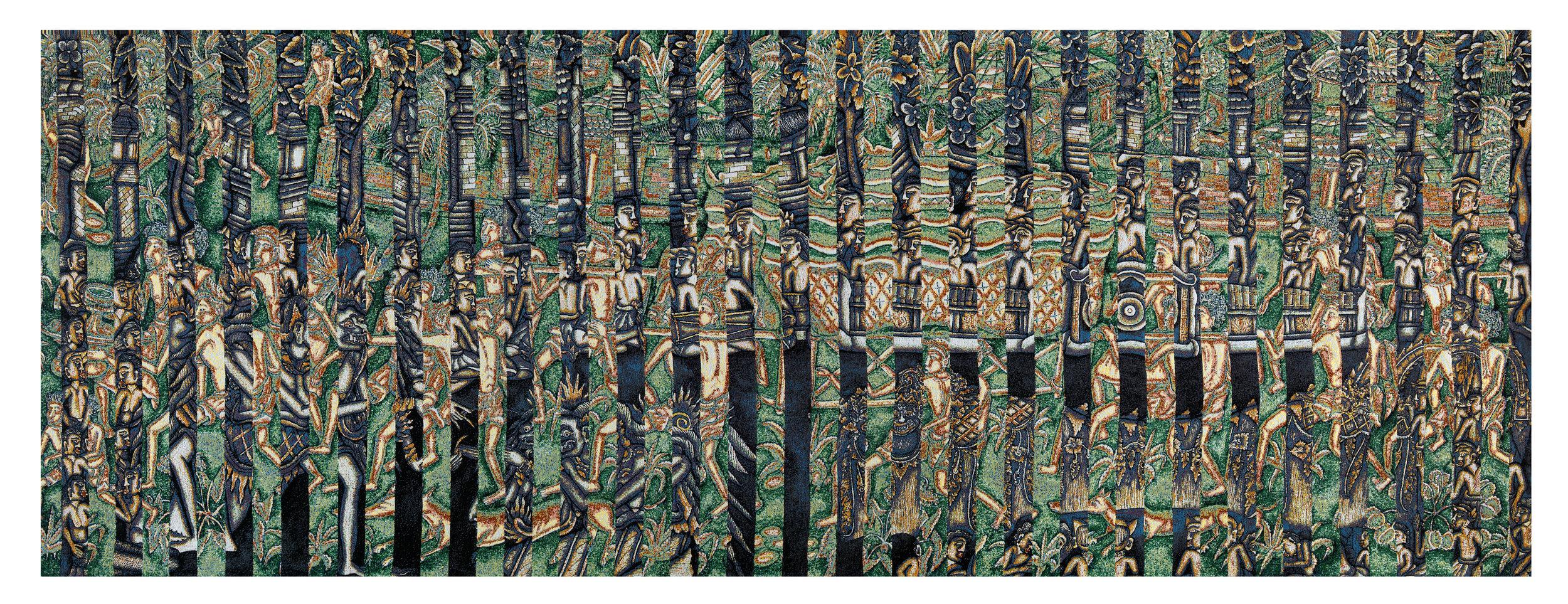 Batuan 1, jacquard woven, 142 x 382 cm