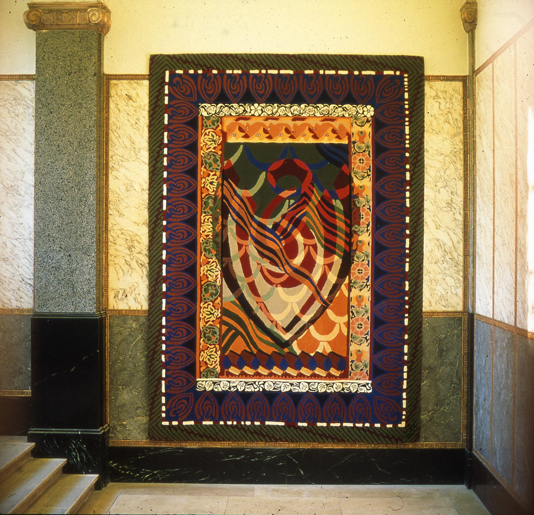 Euronext logo, handtufted carpet, 380 x 270 cm