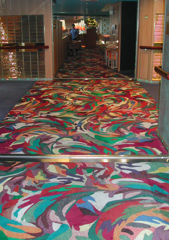 MS Westerdam, carpet for the Lido