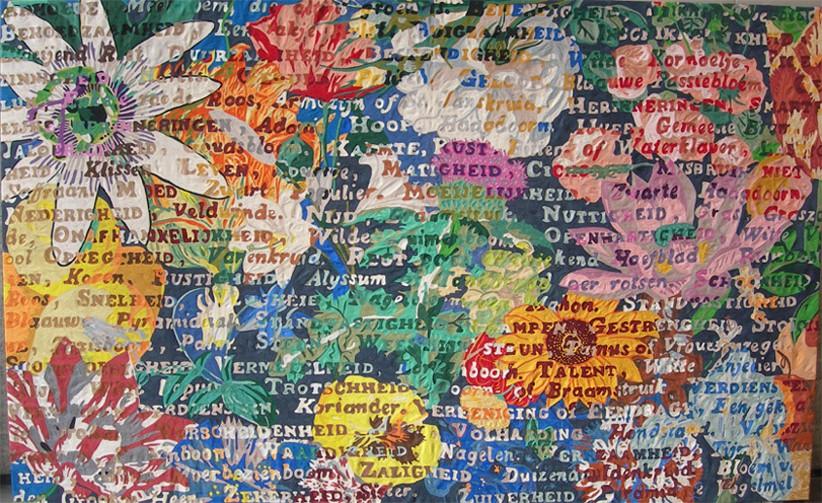 Speech of flowers, 200 x 300 cm