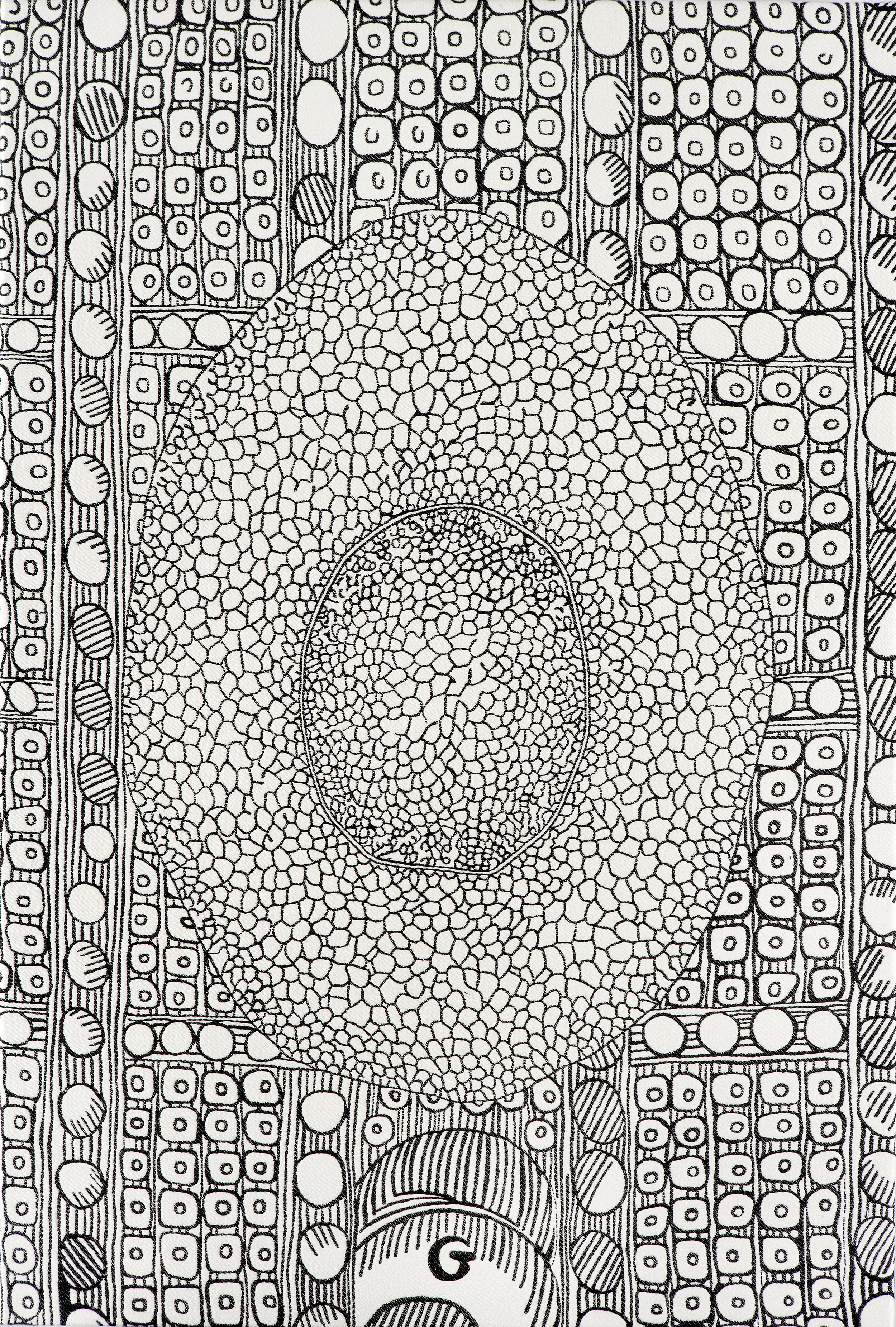 Cells 1, hand embroidered, 290 x 200 cm, 2007