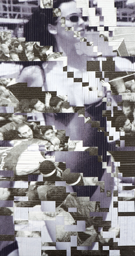 Woman, no. 5, printed and woven canvas, 225 x 118 cm
