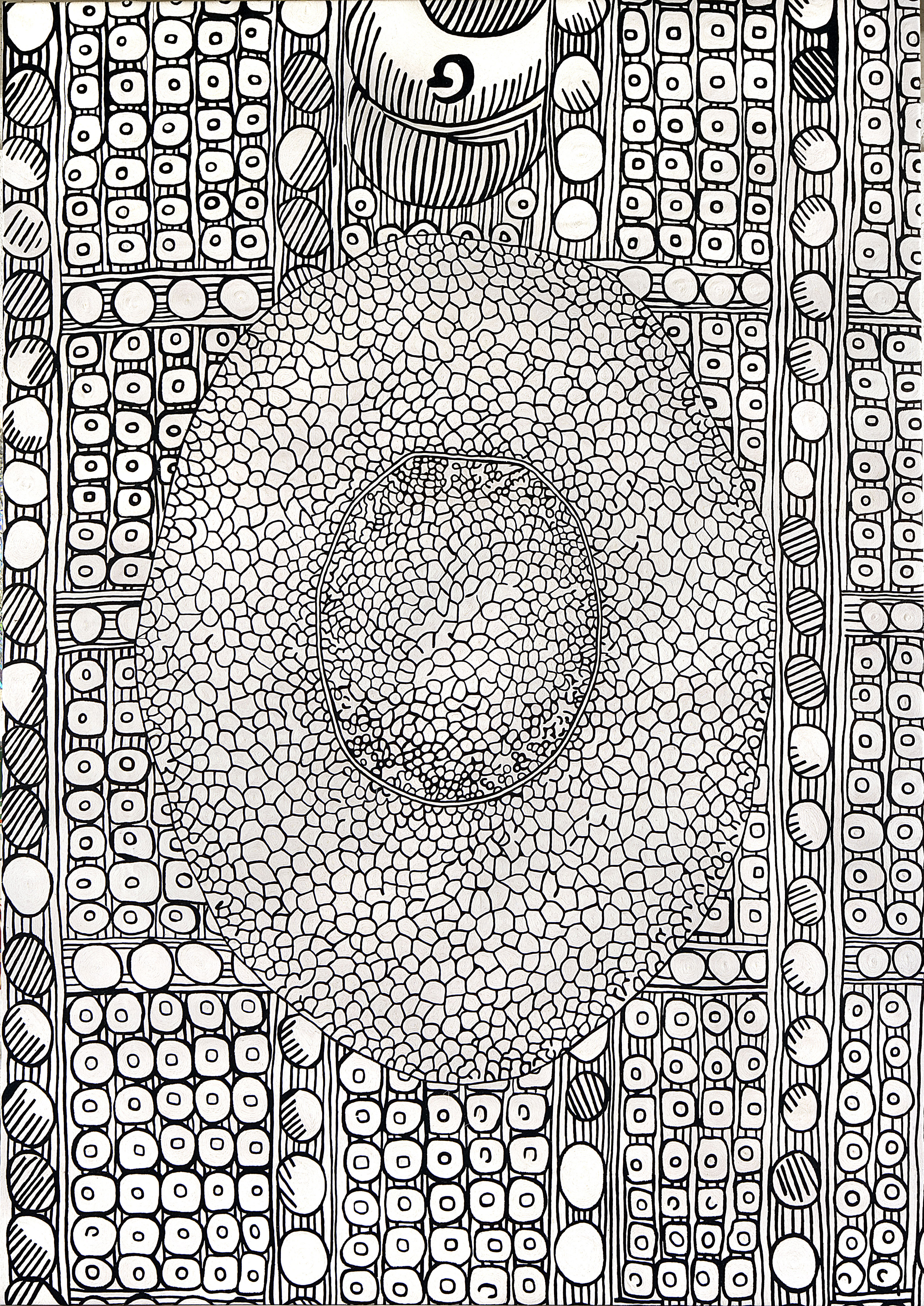 Cells I, hand embroidered, 290 x 200 cm