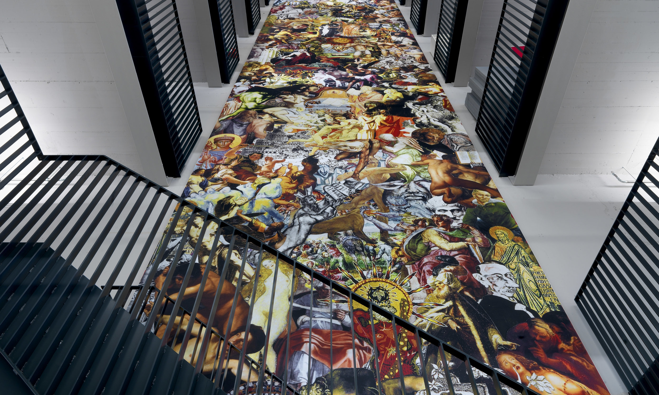 Amsterdam University, Justice and Injustice, printed canvas, 30 x 4,5 m