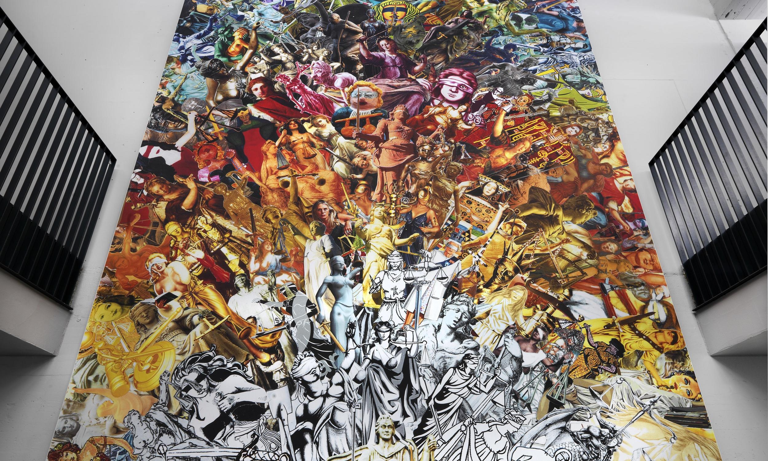 Amsterdam University, Lady Justice, printed canvas, 7 x 4,5 m