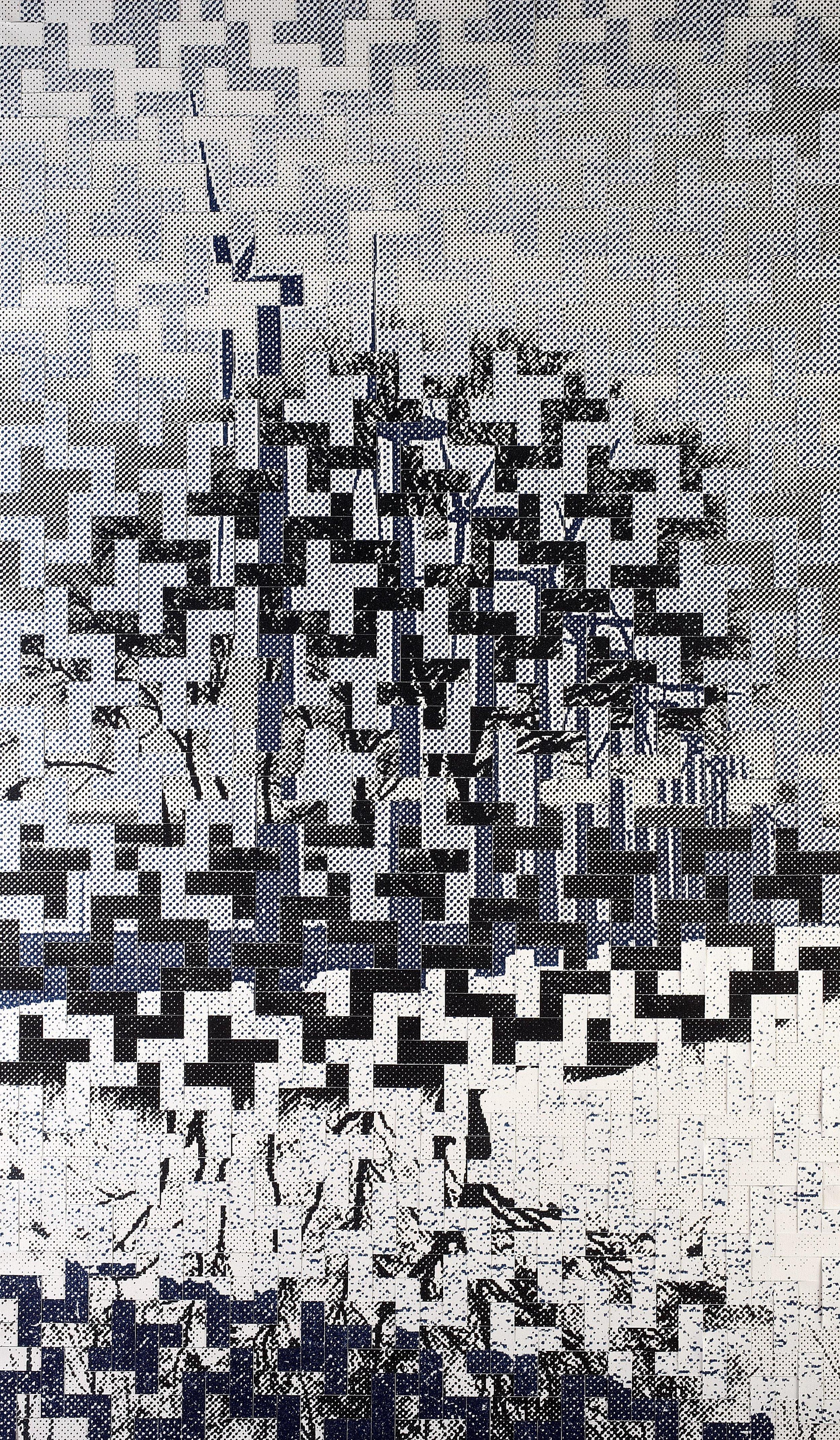 Dutch Landscapes: no. 1. Printed, woven canvas, 250 x 150 cm