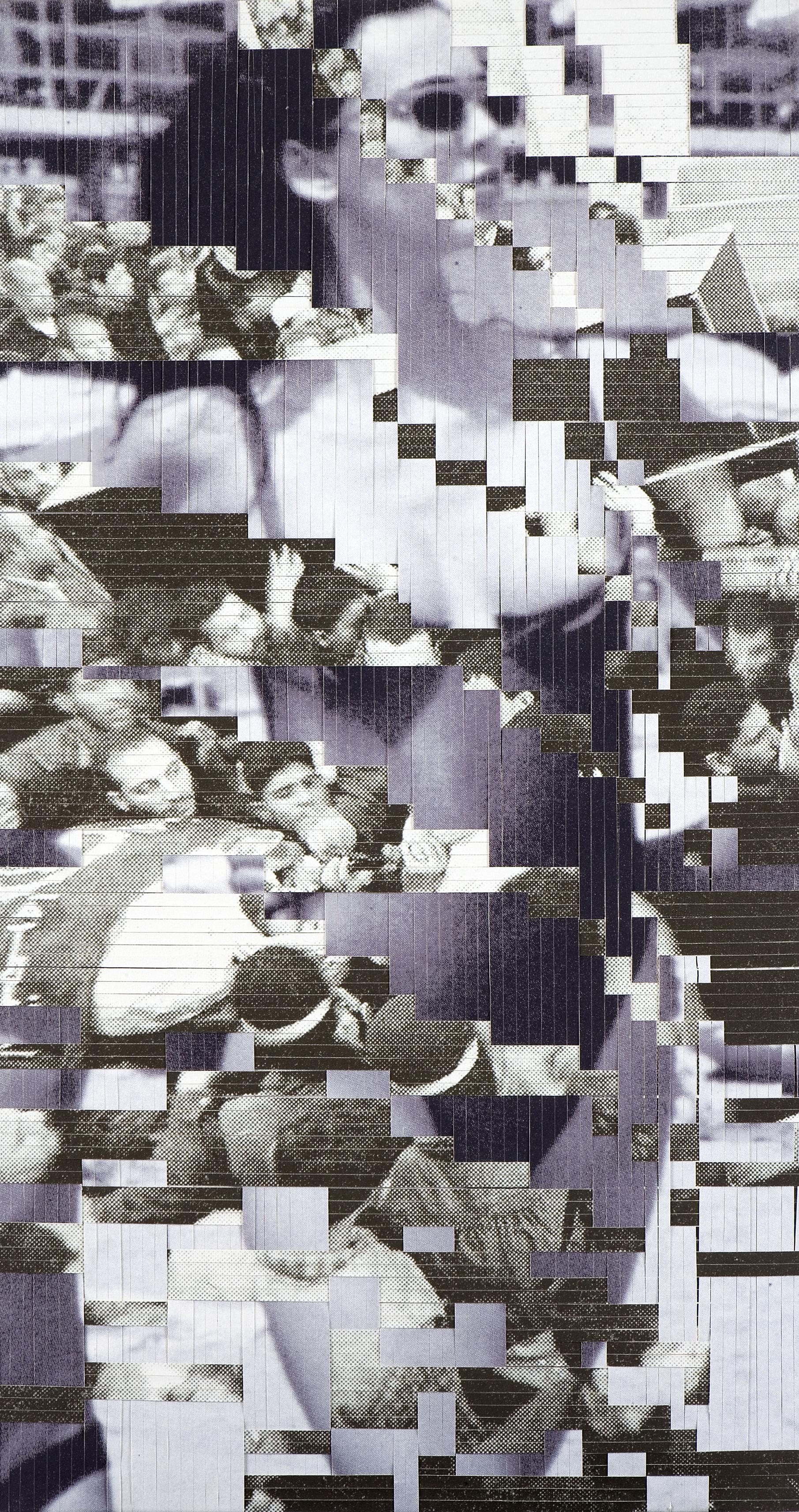 Woman 1-10: no. 5, printed, woven canvas, 105 x 58 cm