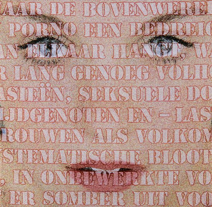 Open Mouths no. 43, Laura, 100 x 100 cm