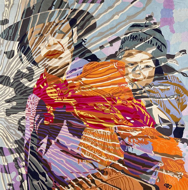 Bolivia, hand embroidered, 200 x 200 cm