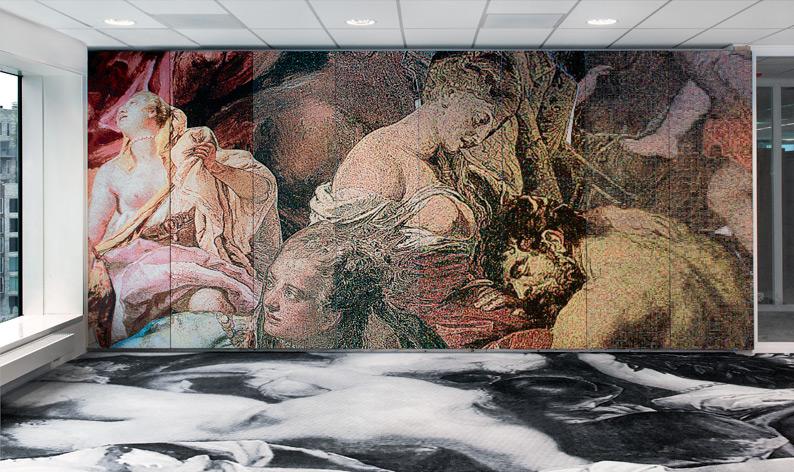 Samson and Delilah, jaquard woven, 7 panels, 230 x 455 cm