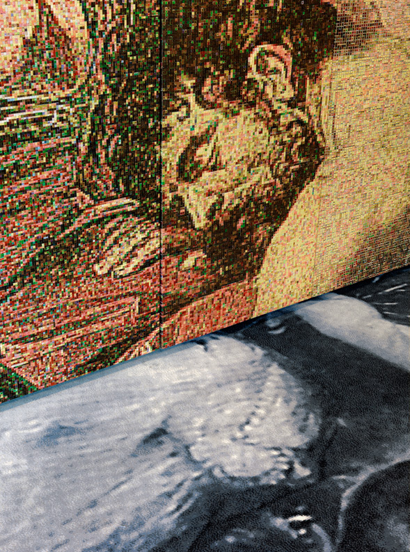 Samson and Delilah, jaquard woven, 7 panels, detail
