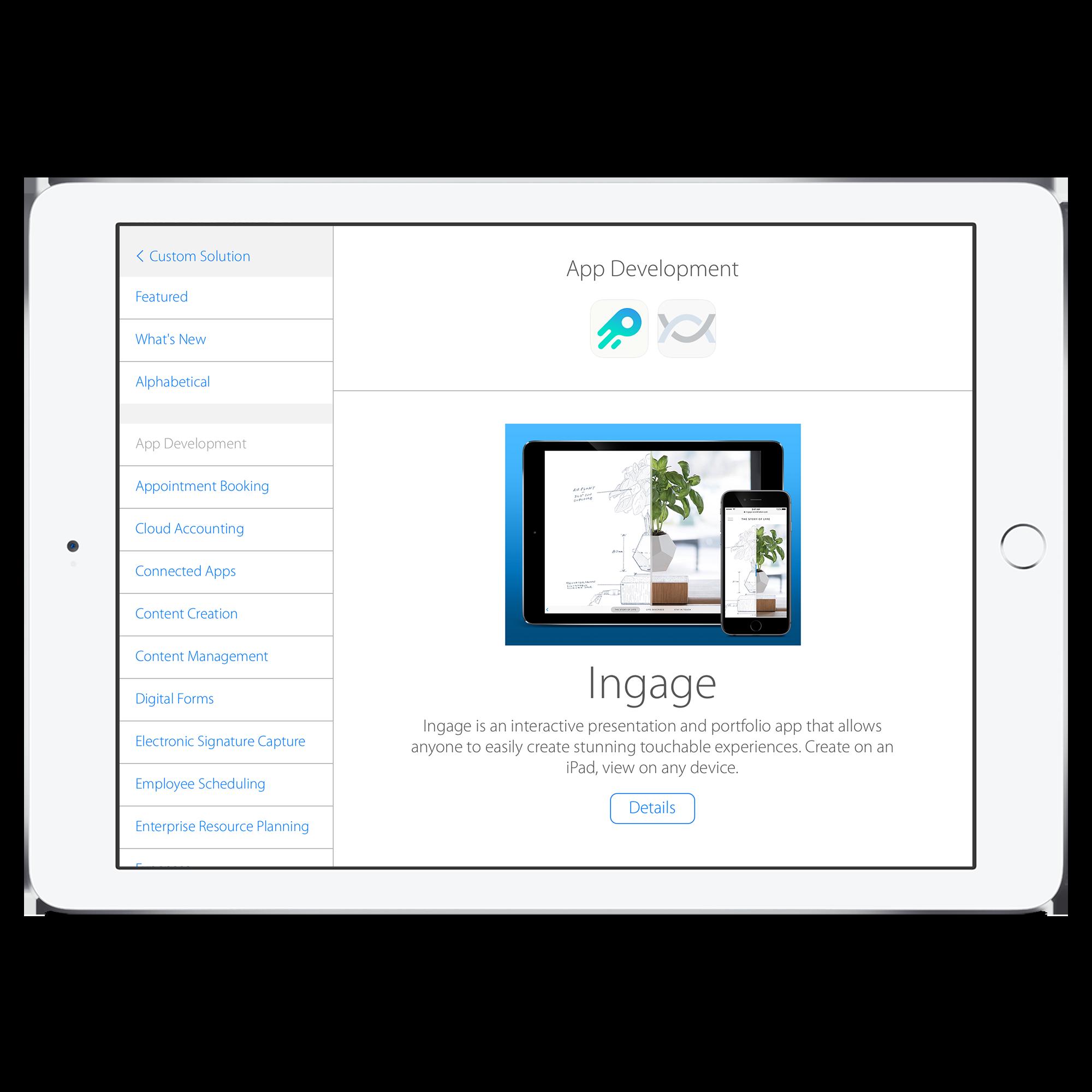Showcase Catalog (Core Competency view)