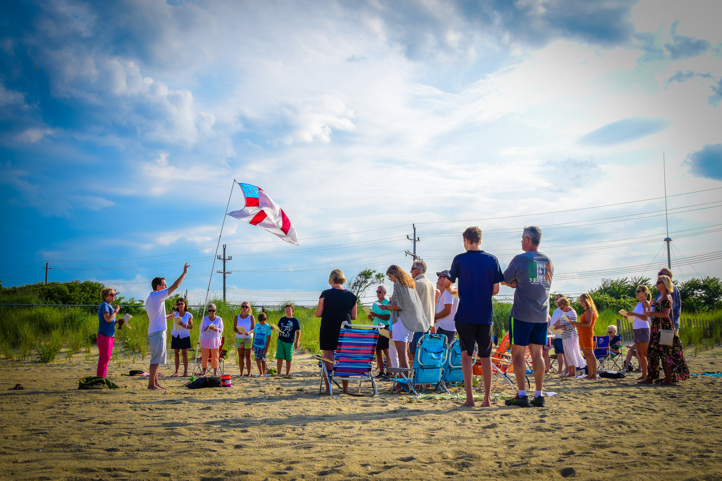 Photography for St.George's by-the-River Episcopal Church Beach Eucharist