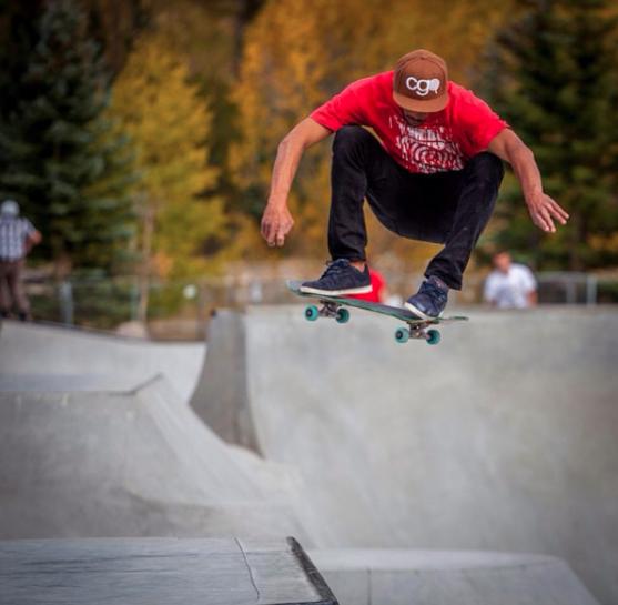 Skater: Andrew Hook - Photo: Chad Otterstrom - Location: Kingdom Skatepark Breckenridge, CO